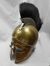 Roman Italo Corinthian Steel Greek Helmet With Black Pume New