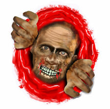 Halloween TOILET SEAT STICKER Decal Cover Spooky Scary Zombie Party Decoration