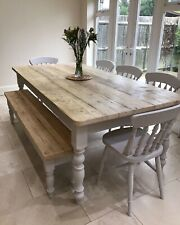 Rustic farmhouse table And Benches Made To Order