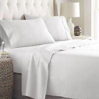 Bed Sheets Set  Platinum HC Collection 1800 Series Bedding Set King White