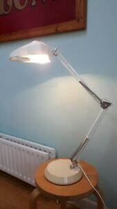 VINTAGE MAGNIFYING ANGLEPOISE WORKSHOP INDUSTRIAL  LAMP