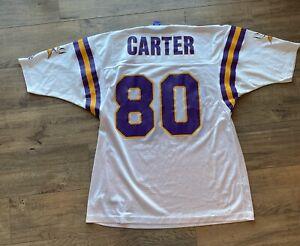 Cris Carter jersey Minnesota Vikings. Men's 44. White.