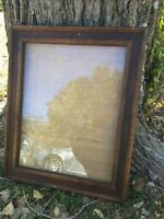 Vintage Solid Wood 17x22 Picture Frame Double Molding Wide