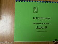 Z0020 ZUNDAPP---ERSATZTEILLISTE---200S AB FG. 892101-MODEL