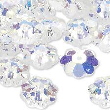 Lot of 10 Swarovski Crystal 10mm Marguerite Lochrose Flower Beads