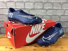 NIKE UK 5 EU 38 MERCURIAL VAPOR 13 CLUB FOOTBALL BOOTS BLUE CHILDRENS BOYS M