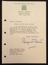 More details for margaret thatcher 1973 signed letter accepting an invitation