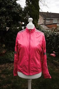 Ladies Adidas Climaproof Pink Lightweight Running Jacket Size UK 12