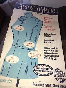 * VTG New Fit Adjust-O-Matic Dress Form Cardboard Mannequin Sewing Tailor NOB