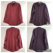 Tommy Hilfiger Mens Size Medium Button Down Shirt Plaid Long Sleeve Lot Of 2