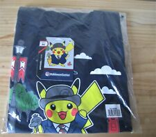 Pokemon Center London Exclusive Pikachu Blue T-shirt adult size M - NEW & SEALED