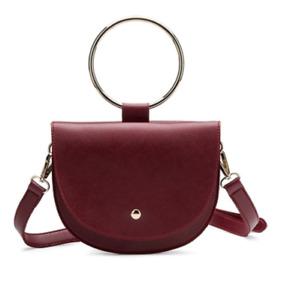 NEW Melie Blanco Ring Burgundy Vegan Leather Crossbody Bag