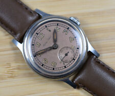 Vintage MATHEY TISSOT Chocolate Brown Dial Manual Wind Stainless Men's Watch