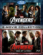 Epic Superhero Double Feature Marvel The Avengers Age of Ultron 2 Movie Blu-ray