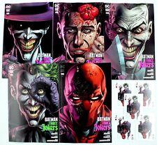 BATMAN THREE JOKERS #3 SET OF 5 REG/PREMIUM COVERS +5 Playing Cards w/Mylites NM