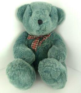 Russ Berrie Brambles Teal Blue Gray Teddy Bear Plush Stuffed Animal Toy Vintage