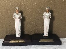Princess Diana Niena Figure Statue 4.5 Inch Tall Made In Russia 7.31 Lot Of 2