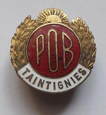 """RAR:   alte emailierte Brosche """"POB"""" belgische Arbeiterpartei vor 1940 Belgien"""