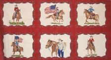 Sundance Trail Cowboy Cattle Longhorns Lasso Western Moda Fabric Panel