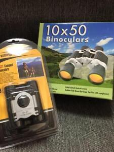 Brand New Binoculars Set  (  Compact 8 x 21 Binoculars   +  10x50 Binoculars )