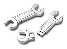 PENDRIVE USB 8 GB Chiave Inglese in acciaio PERSONALIZZATO con INCISIONE!!!