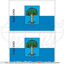 FAETANO Castello Flagge SAN MARINO Fahne 75mm VINYL STICKER AUFKLEBER x2