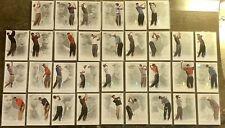 New listing 2013 TIGER WOODS UD MASTER COLLECTION HUGE 33 CARD LOT GOLF #/200 PSA BGS 🔥
