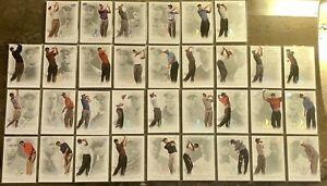 2013 TIGER WOODS UD MASTER COLLECTION HUGE 33 CARD LOT GOLF #/200 PSA BGS 🔥