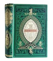 The Poetical Works of William Cowper Antique Ornate Victorian Angel Cover