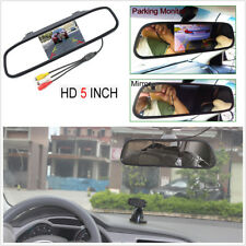 "5"" TFT LCD Car Parking System Mirror Monitor 2 Video Input For Rear view Camera"