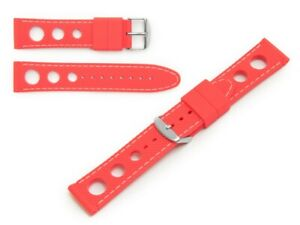 WATCH STRAP SILICON RUBBER TRAVELLER RALLY WATERPROOF 18 , 20, 22, 24MM US
