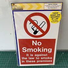 No Smoking Sign Self-Adhesive Rigid PVC 150mm x 225mm Industrial IS7601RP 829N