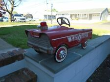 Murray Fire Chief Pedal Car - Vintage 1960s City Fire Department