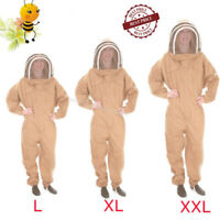 Professional Cotton Full Body Beekeeping Bee Keeping Suit W// Veil Hood/&Glove 2XL