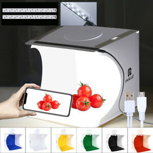 Lichtbox Fotostudio Fotografie Kulisse Zelt Mini LED Beleuchtung Cube Room DE