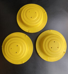 Evenflo Mega Circus Exersaucer 3 Yellow Plastic Cap Caps Parts •Replacement Part