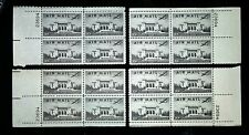 1947 Airmail 4Matching Plate Blocks C34! Mint MNH US Stamps! Pan Am Building! VF