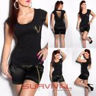 Womens Top T Shirt with Ripped Back Sexy Hot New Casual Club Wear Size 8 10 12