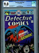 Detective Comics # 451 CGC 9.0 NM  Batman 1975 White Pages Comic Amricons K17