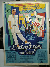 AFFICHE ANCIENNE CINEMA LE BOULANGER DE VALORGUES FERNANDEL