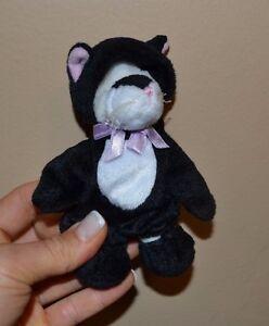 "Frisky 1999 Bear in Cat Costume by Ganz 5"" plush"