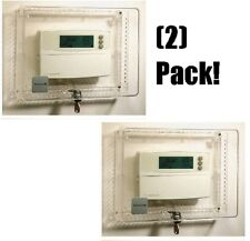 2 ea Honeywell Cg512A 1009 Locking Clear Thermostat Covers / Guards