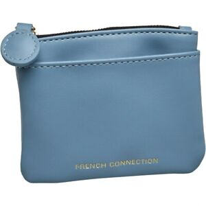 Ladies French Connection Soft Sky Blue Pull Coin Purse Clutch RRP £44.99 12x10cm