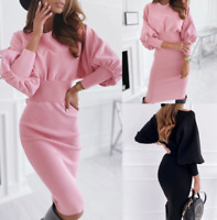 Womens Daily Long Loose Plus size Ladies sexy Home Dress Maxi Wrap Dresses