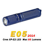 Fenix E05 2014 Edition Cree XP-E2 LED 85 Lumens Flashlight Torch Blue + Battery