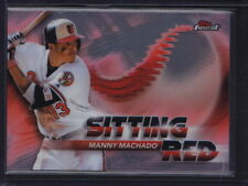2018 TOPPS FINEST SITTING RED INSERT MANNY MACHADO #SR-MM ORIOLES