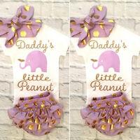 3pcs Newborn Kids Baby Girl Floral Clothes Jumpsuit Romper Bodysuit Pants Outfit