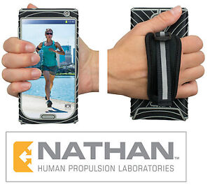 Nathan Sonic Grip for Samsung GS4 or iPhone5 Black/Silver,(5.5X2 7/8)(5X2 3/8)