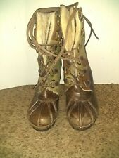 Michael Kors Shearling Lined Lace Up Grommet Camo Boots Size US 8