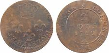 Guyane, Louis XVI, Cayenne, 2 sous de fabrication locale, 1789 - 10